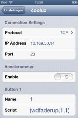 Widget Designer > Connections > Remoting > IPhone WD Remote